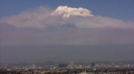 Stock Video Footage of Los Angeles Wildfire Pyro Cumulus Time Lapse 2 x30