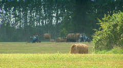Tractor in the field 09 Stock Footage