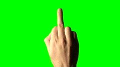 MIddle finger green screen V2 - HD Stock Footage