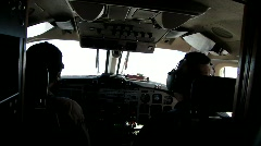 Pilots flying a King Air airplane Stock Footage