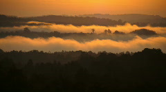 Fog time lapse at sunrise1of3 - stock footage