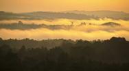 Fog time lapse at sunrise3of3 Stock Footage