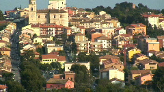 The hill town of Sirolo, Marche, Italy Stock Footage