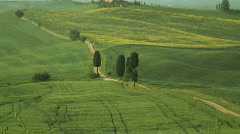 Rolling countryside Val d'Orcia Tuscany  Stock Footage