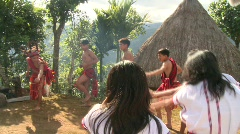 Banaue Ifugao ceremonial rites 11c Stock Footage