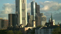 City Buildings Frankfurt Germany Stock Footage