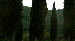 Moving vehicle Val d'Orcia Tuscany Italy Stock Footage