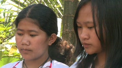 Banaue Ifugao ceremonial rites 7 Stock Footage