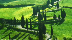 Winding road Tuscany Italy - stock footage