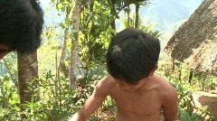 Banaue Ifugao ceremonial rites 3 Stock Footage