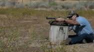 Stock Video Footage of Black powder rifle shoot P HD 2258