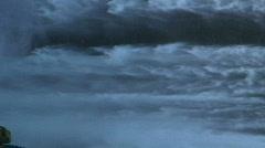 Skogafoss waterfall Iceland Stock Footage
