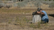 Black powder rifle target practice Slow P HD 2262 Stock Footage