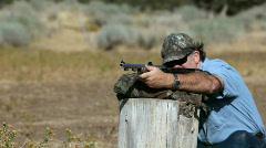 Black powder rifle practice Slow P HD 2263 Stock Footage