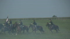 HD Stock -Civil War - Union  Cavalry Unit during battle Stock Footage