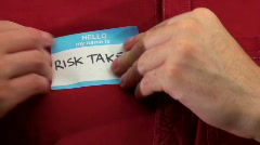 Hello my name is RISK TAKER - HD  Stock Footage