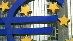 European Central Bank Frankfurt - stock footage