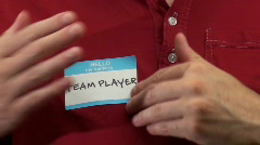 Hello my name is TEAM PLAYER - HD  - stock footage