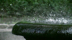 Fountain in park Stock Footage