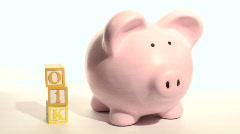 Piggy bank 401K - HD  Stock Footage
