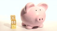 Piggy bank 401K - HD  Stock Footage
