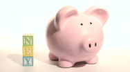 Piggy bank MONEY - HD  Stock Footage