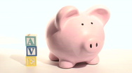 Piggy bank SAVE - HD  Stock Footage