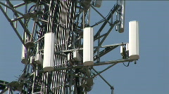 Phone tower closeup Stock Footage