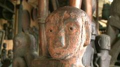 Banaue Ifugao wooden carving 8  Stock Footage