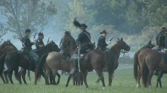 HD Stock-Civil War - Union  Cavalry Ready to Charge Stock Footage