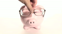 Smart piggy bank V2 - HD  Stock Footage