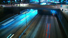 Freeway Overpass Time-lapse - stock footage