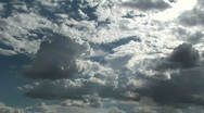 Clouds Come Together Stock Footage