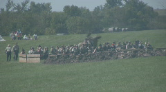 HD Stock -Civil War - Confederate Troops in trench- cavalry - stock footage