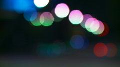 Bokeh Traffic Lights Time-lapse - stock footage