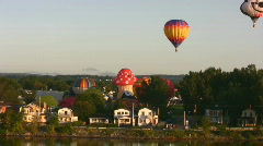 Balloon Flying Stock Footage