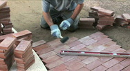 Building Garden Path Stock Footage
