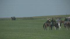 HD Stock -Civil War  Cavalry Sword fight Stock Footage