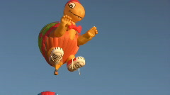 Giant Turtle Hot Air Balloon Stock Footage