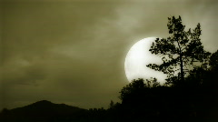 Moonshine in mountains 1 Stock Footage