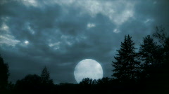 Moonshine in mountains 2-1 Stock Footage