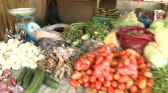 Banaue Tanduay village market 3 Stock Footage