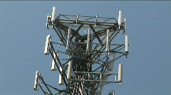 Stock Video Footage of phone tower top