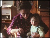 Stock Video Footage of Feeding the baby (vintage 8 mm amateur film)