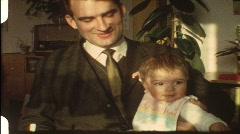 Feeding the baby (vintage 8 mm amateur film) Stock Footage