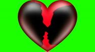 Man and woman kiss green screen V2 - HD Stock Footage