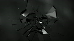 Glass Shatters Explosion Stock Footage