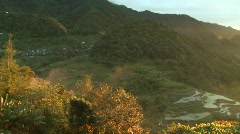 Banaue sunset 1 Stock Footage
