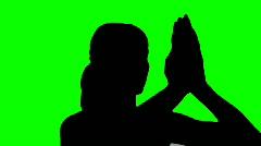 Prayer pose green screen - HD Stock Footage