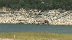 low water boat docks lake travis - stock footage